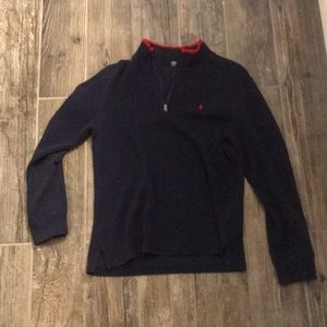 GOOD AS NEW Youth XL (14-16) Polo Zip Up Dark Blue